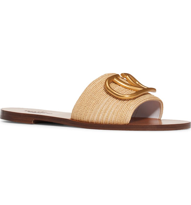 VALENTINO GARAVANI Valentino VLOGO Slide Sandal, Main, color, NATURALE