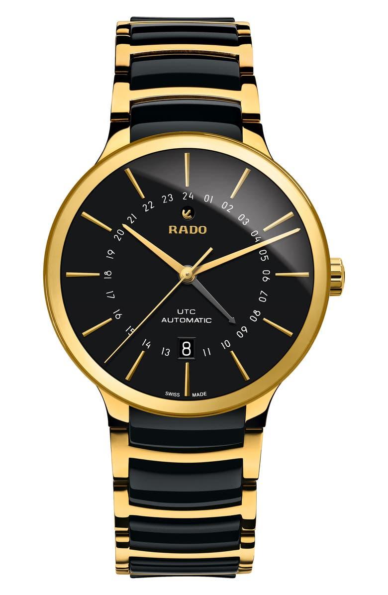 RADO Centrix Automatic Ceramic Bracelet Watch, 40mm, Main, color, 001