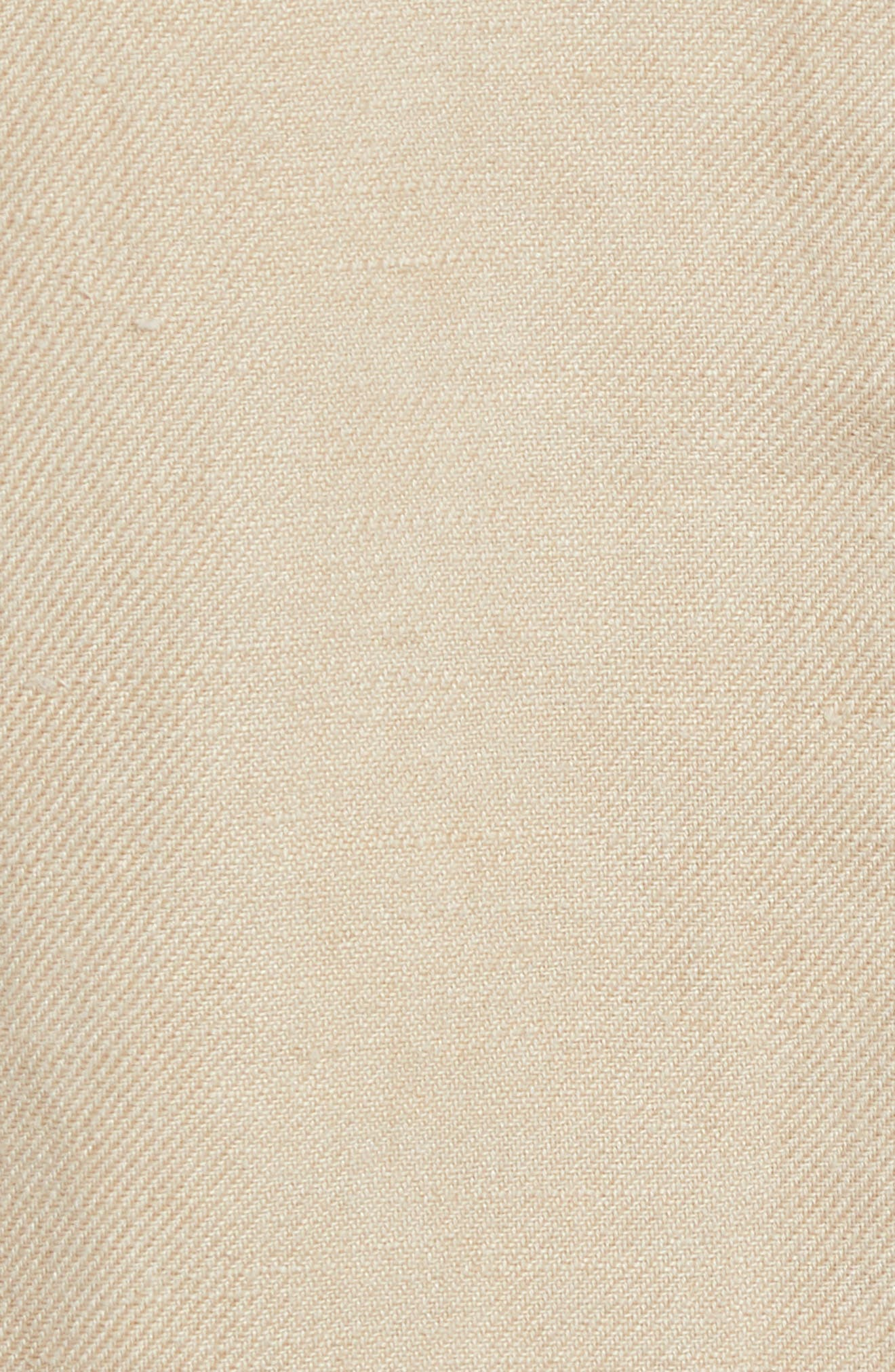 ,                             Linen Blend Wrap Jacket,                             Alternate thumbnail 6, color,                             BEIGE BIRCH