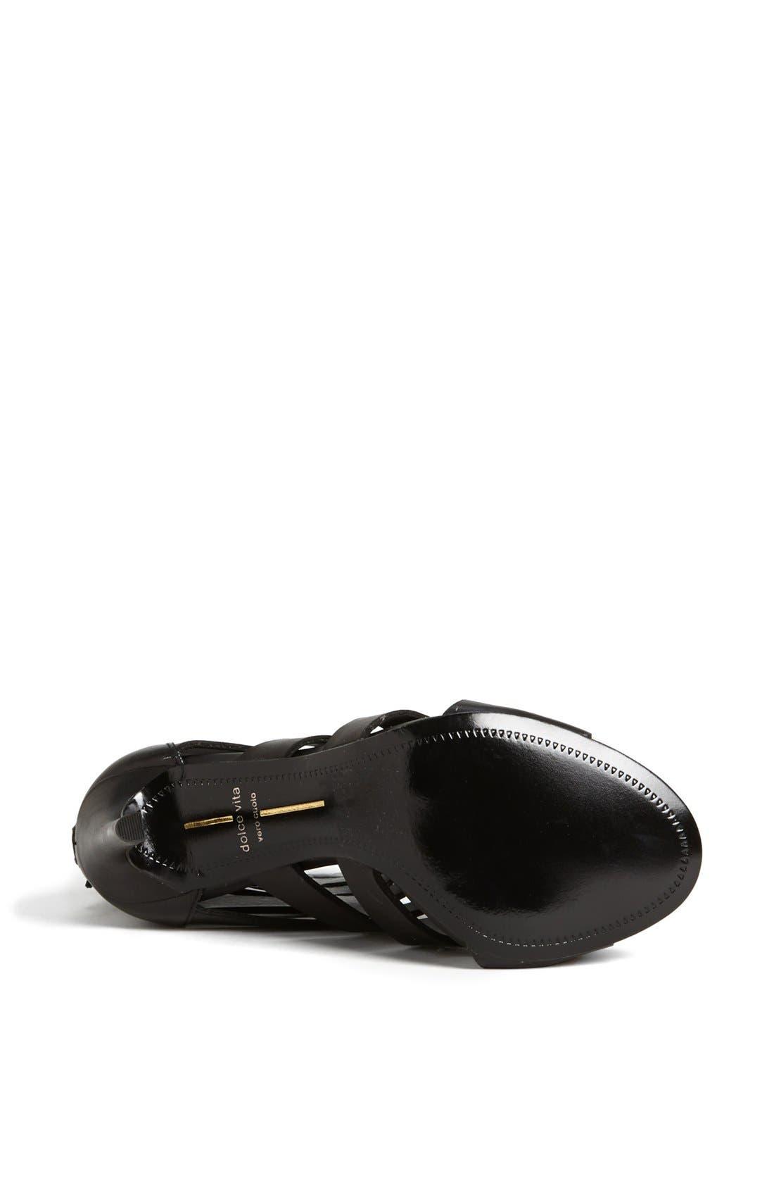 ,                             'Hettie' Leather Sandal,                             Alternate thumbnail 4, color,                             001