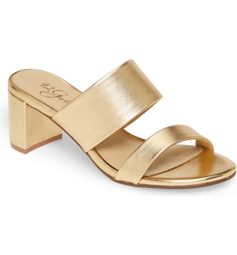 42 GOLD Liya Slide Sandal, Main, color, GOLD LEATHER