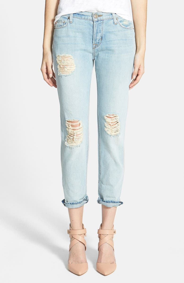 HUDSON JEANS 'Leigh' Distressed Boyfriend Jeans, Main, color, 400