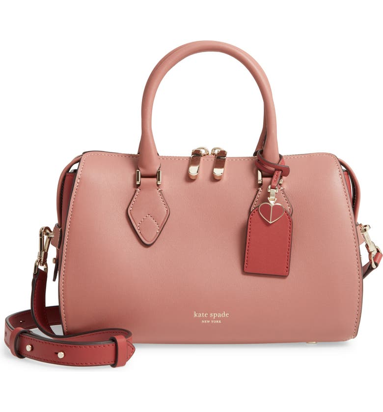 KATE SPADE NEW YORK small tate leather duffle bag, Main, color, 655