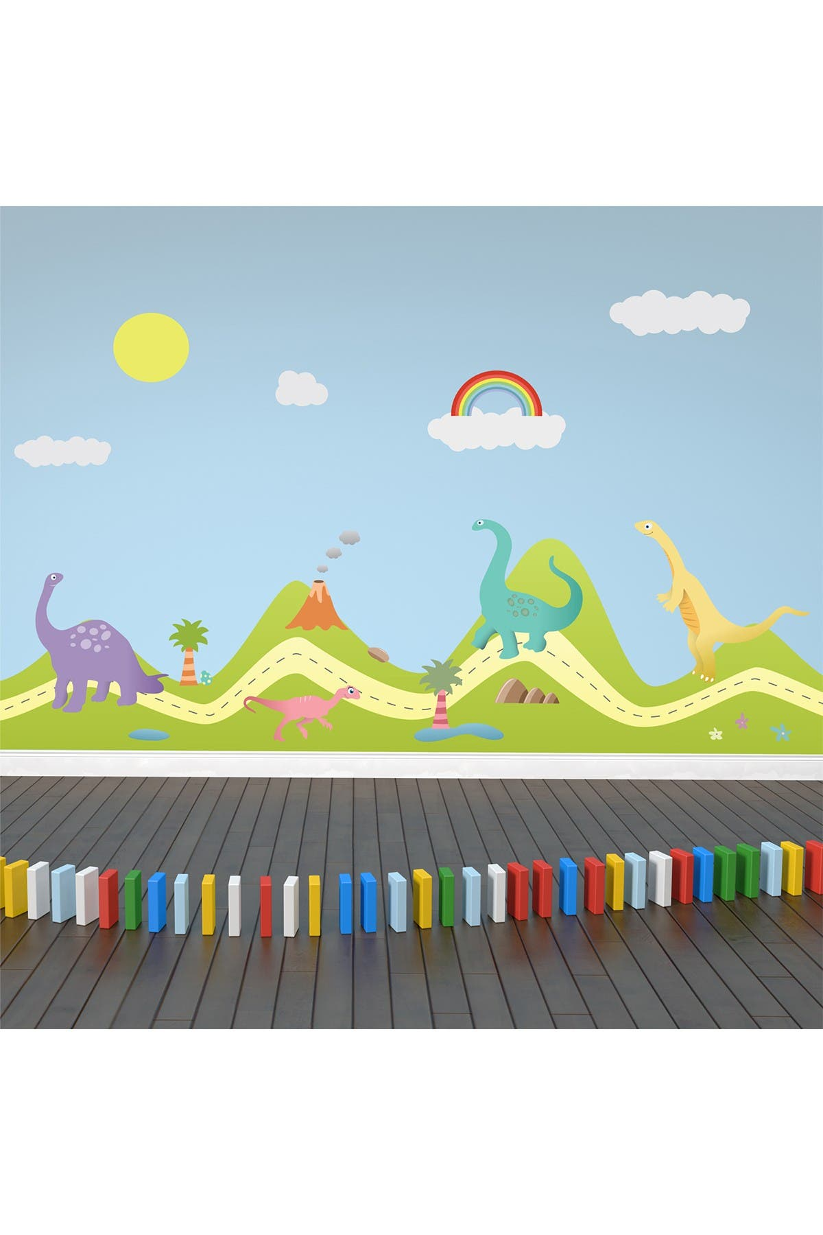 Image of WalPlus Happy Hills & Happy Dinosaurs Wall Sticker