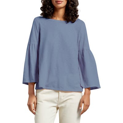 Michael Stars Bell Sleeve Tee, Size One Size - Blue