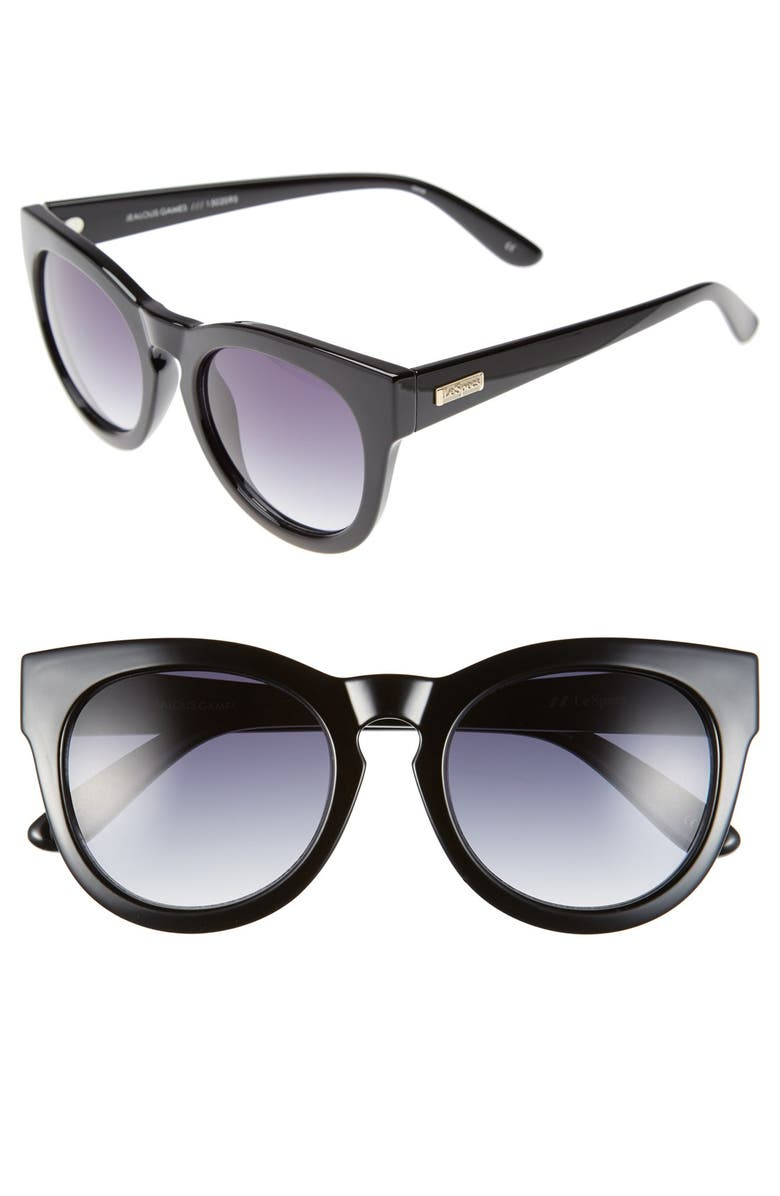 LE SPECS 'Jealous Games' 52mm Cat Eye Sunglasses, Main, color, 001