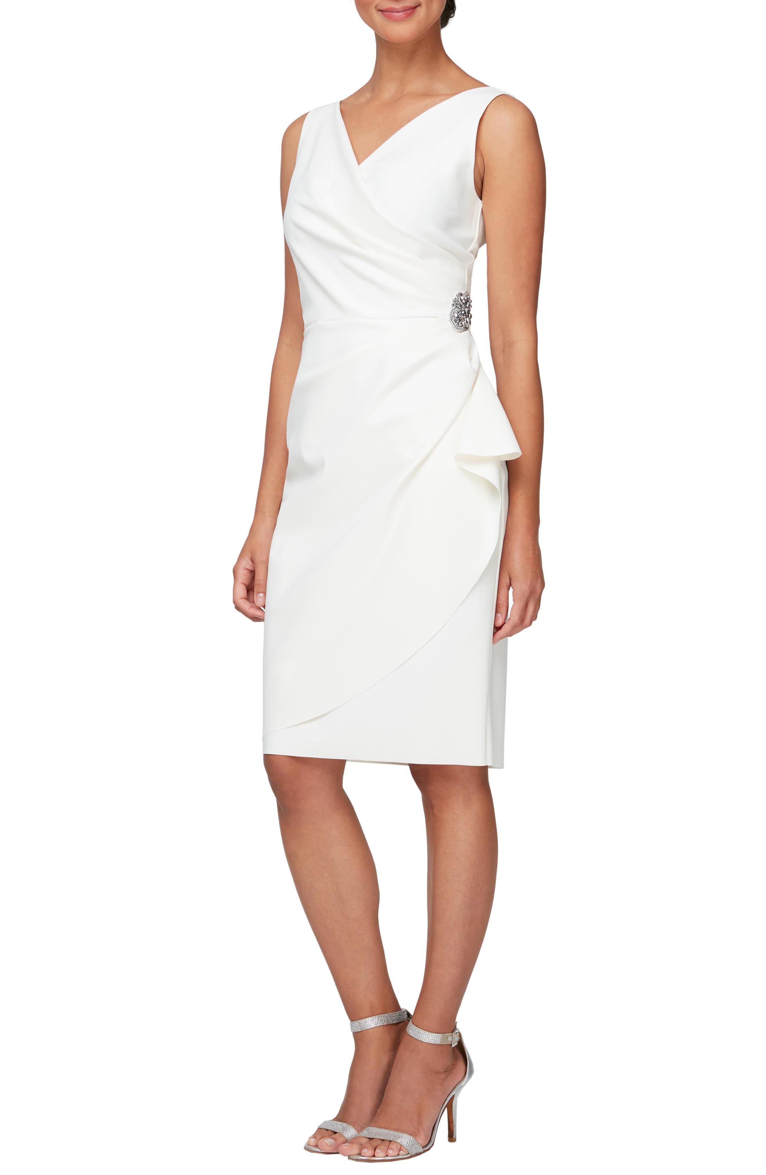 Women's Short Side Ruched Dress