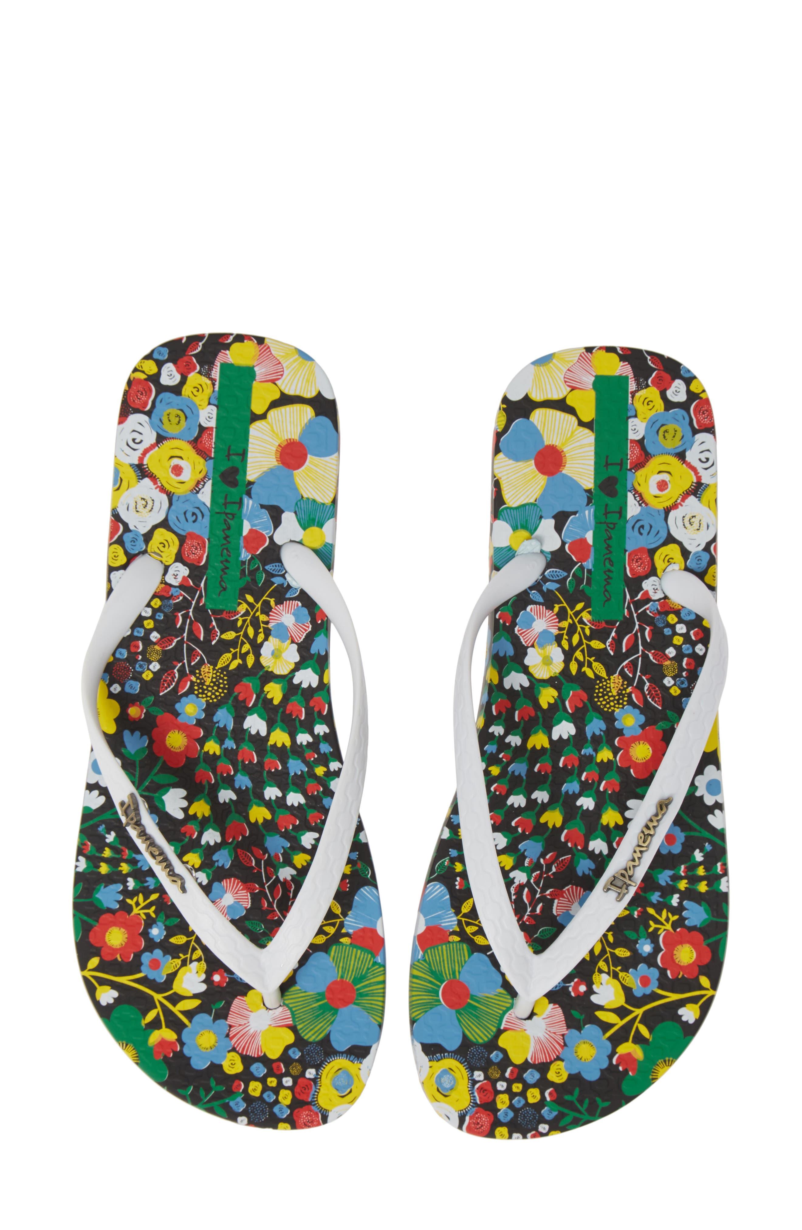 Pop Flip Flop, Main, color, BLACK/ WHITE