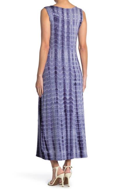 Image of TASH + SOPHIE Tie-Dye Cowl Neck Sleeveless Maxi Dress