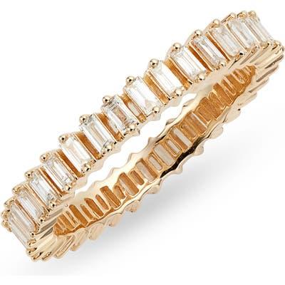 Dana Rebecca Designs Sadie Pearl Diamond Baguette Stacking Ring