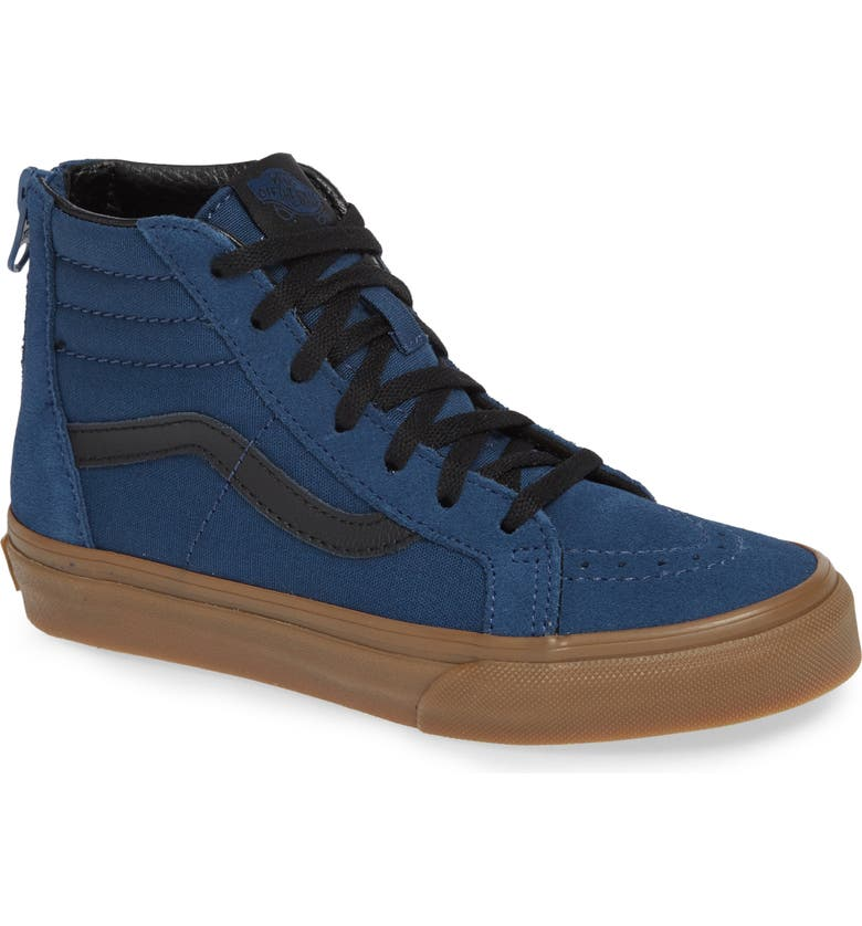 VANS 'Sk8-Hi' Sneaker, Main, color, GUM OUTSOLE DENIM/ BLACK