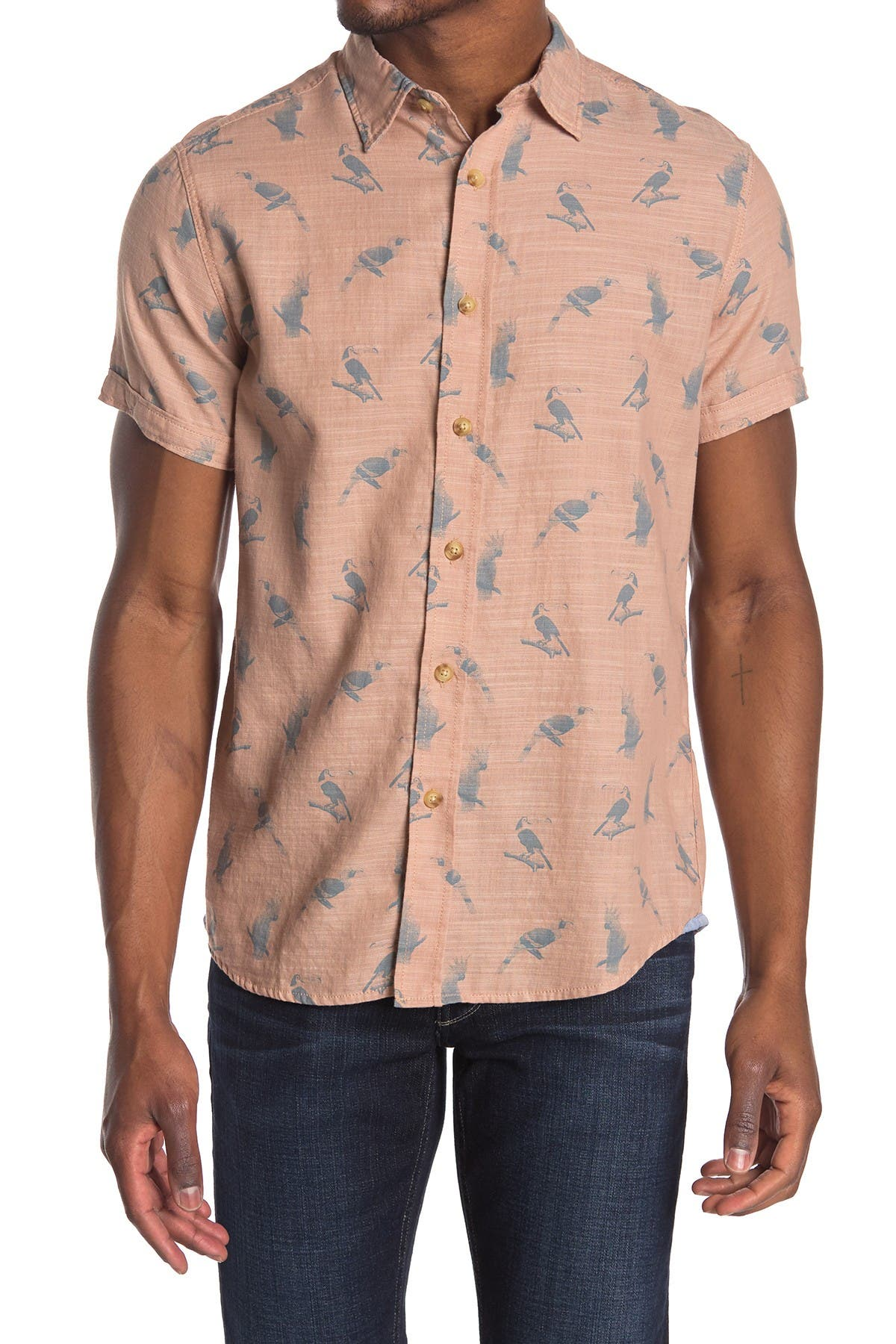 Image of Grayers Toucan Printed Trim Fit Shirt
