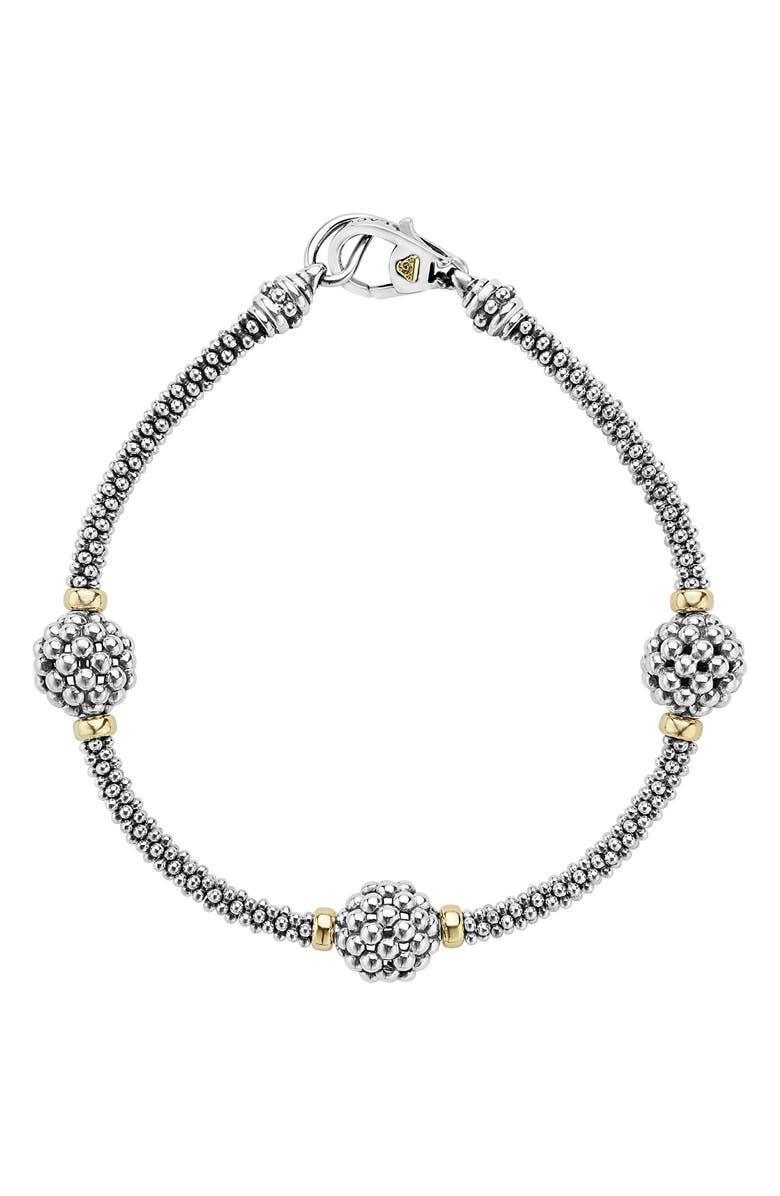 LAGOS 'Caviar Forever' Ball Station Bracelet, Main, color, SILVER/ GOLD