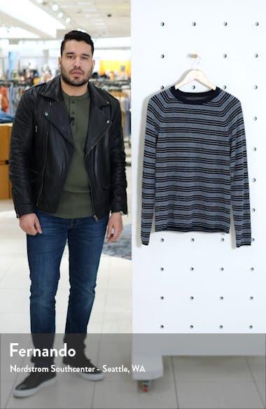 Bouclé Stripe Cotton & Cashmere Sweater, sales video thumbnail