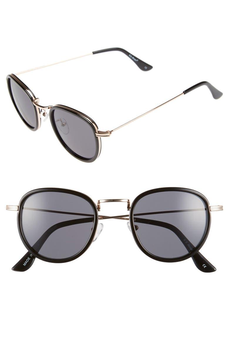 A.J. MORGAN 'Prudent' 48mm Retro Sunglasses, Main, color, 001