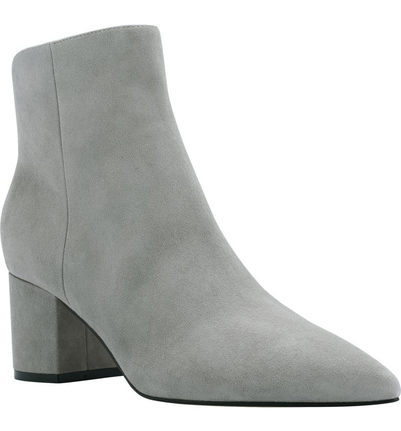 MARC FISHER LTD Jojo Pointed Toe Bootie, Main, color, GRAY SUEDE