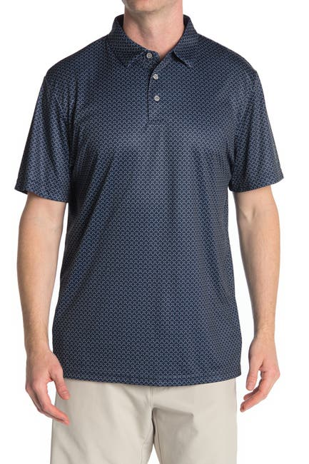 Image of PGA TOUR Printed Short Sleeve Golf Polo