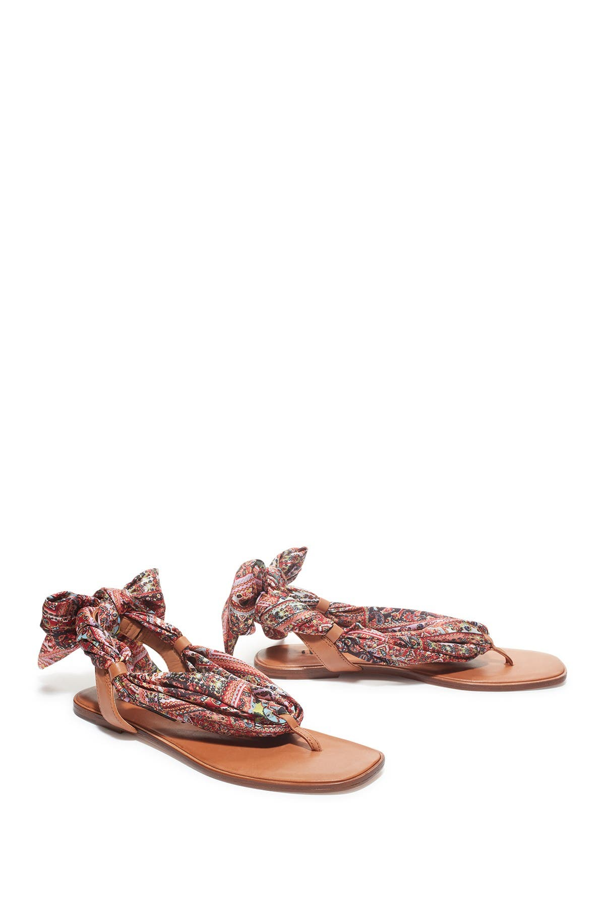 Image of alice + olivia Caliea Printed Wrap Sandal