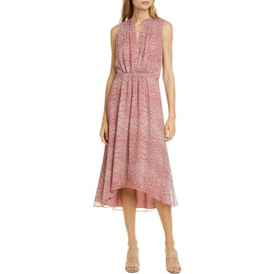 Joie Hilarie Snake Print Silk Georgette Dress, Pink