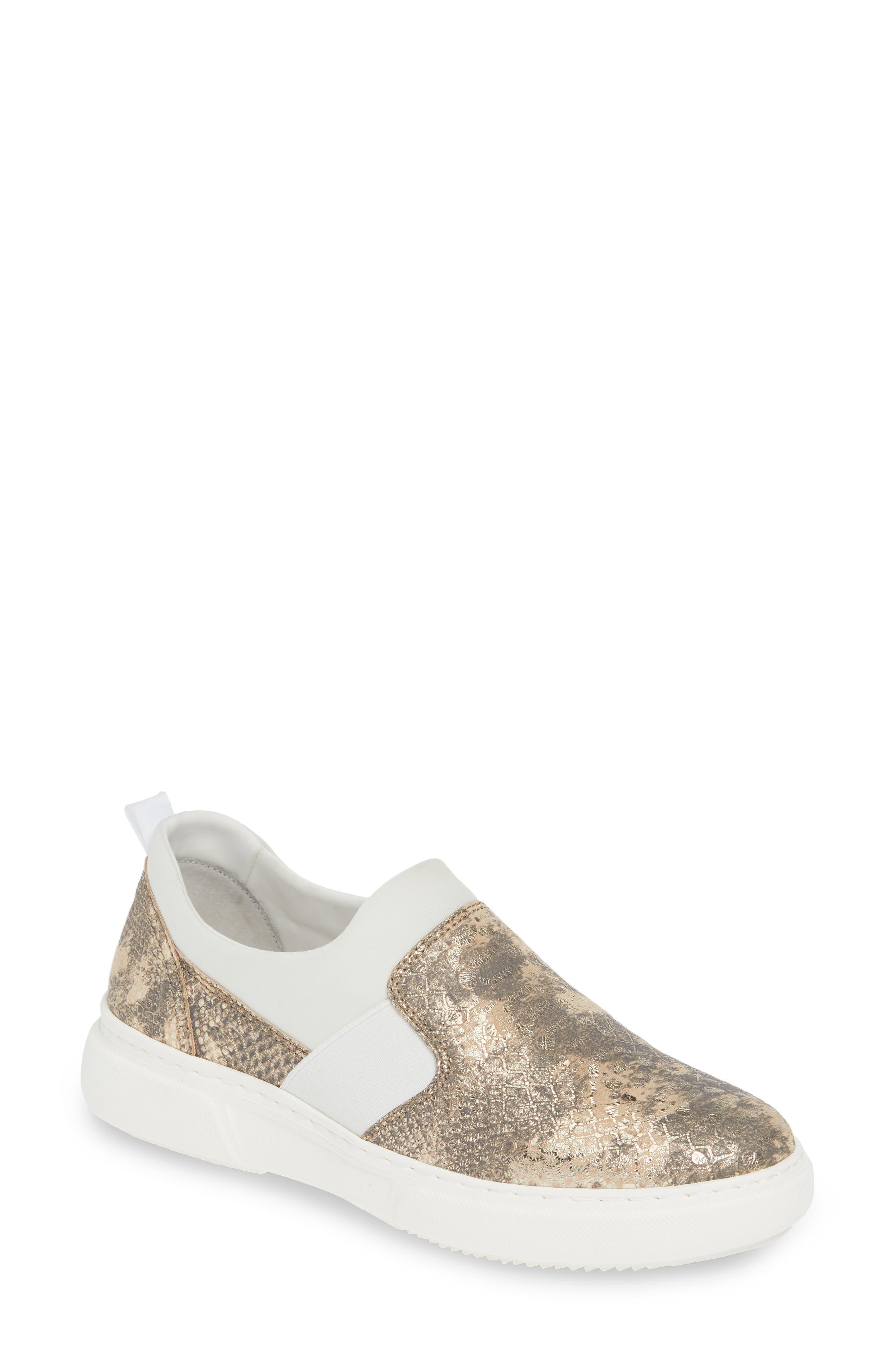 Johnston & Murphy Noelle Slip-On Sneaker, Metallic