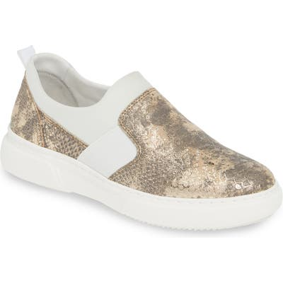 Johnston & Murphy Noelle Slip-On Sneaker, Metallic