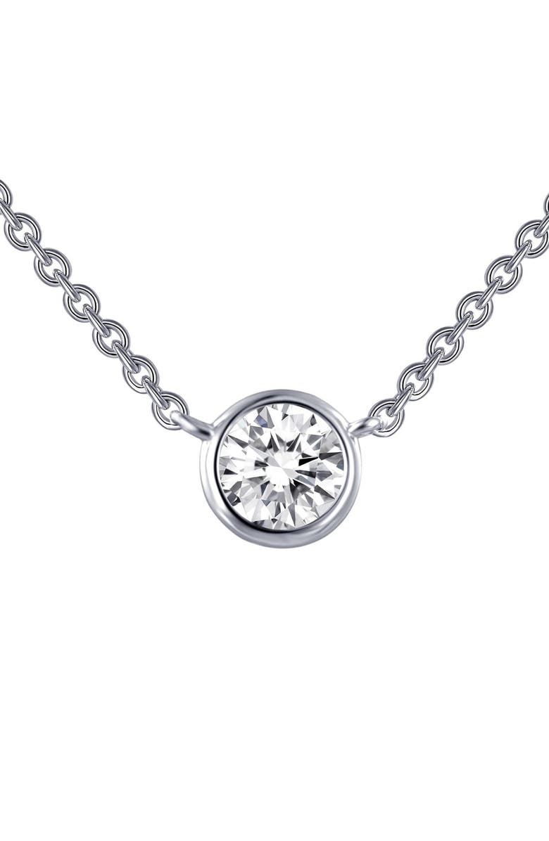 LAFONN Simulated Diamond Pendant Necklace, Main, color, 040