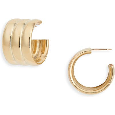 Laura Lombardi Mini Grazia Hoop Earrings