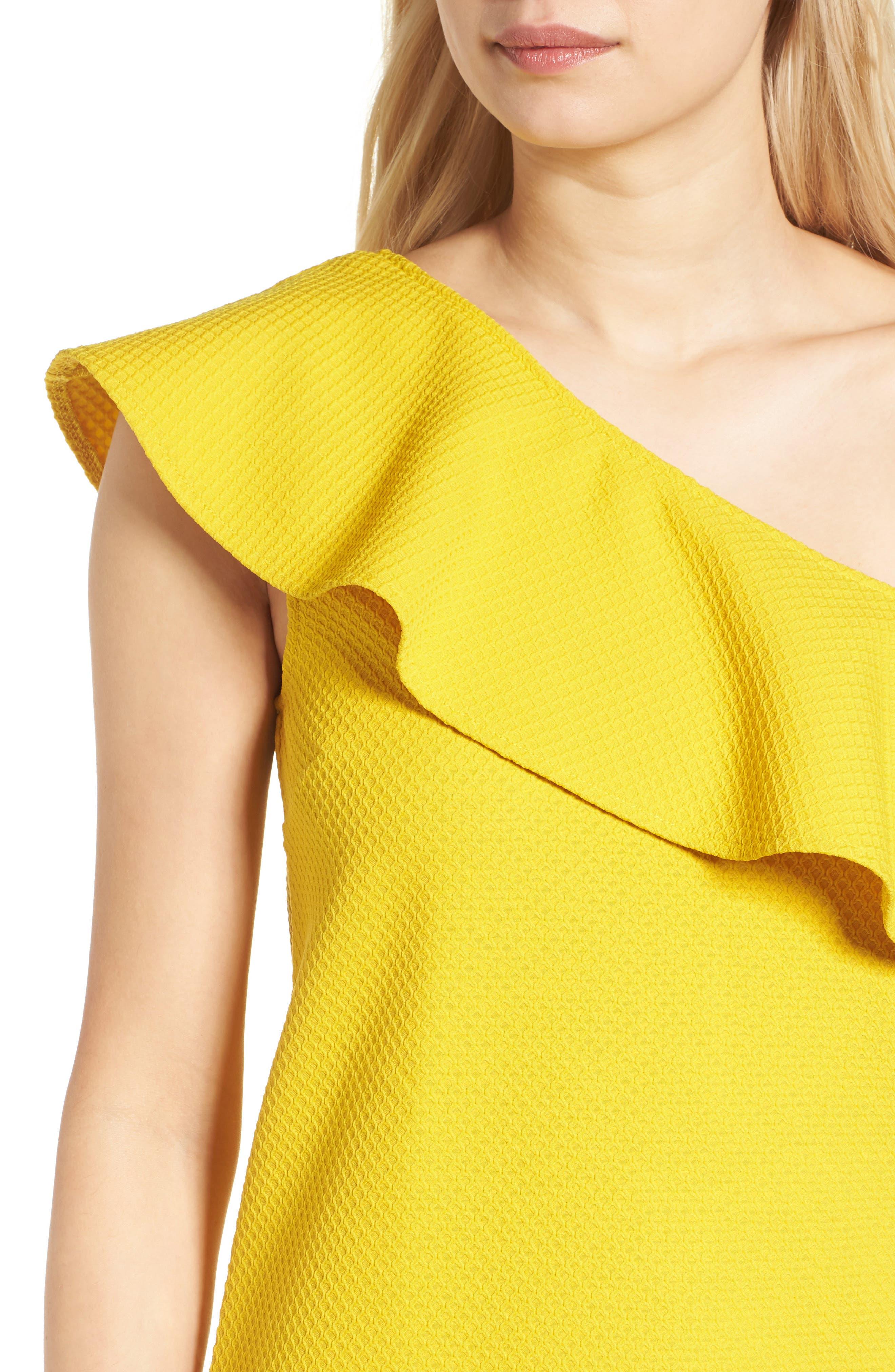 ,                             Ruffle One-Shoulder Dress,                             Alternate thumbnail 10, color,                             750