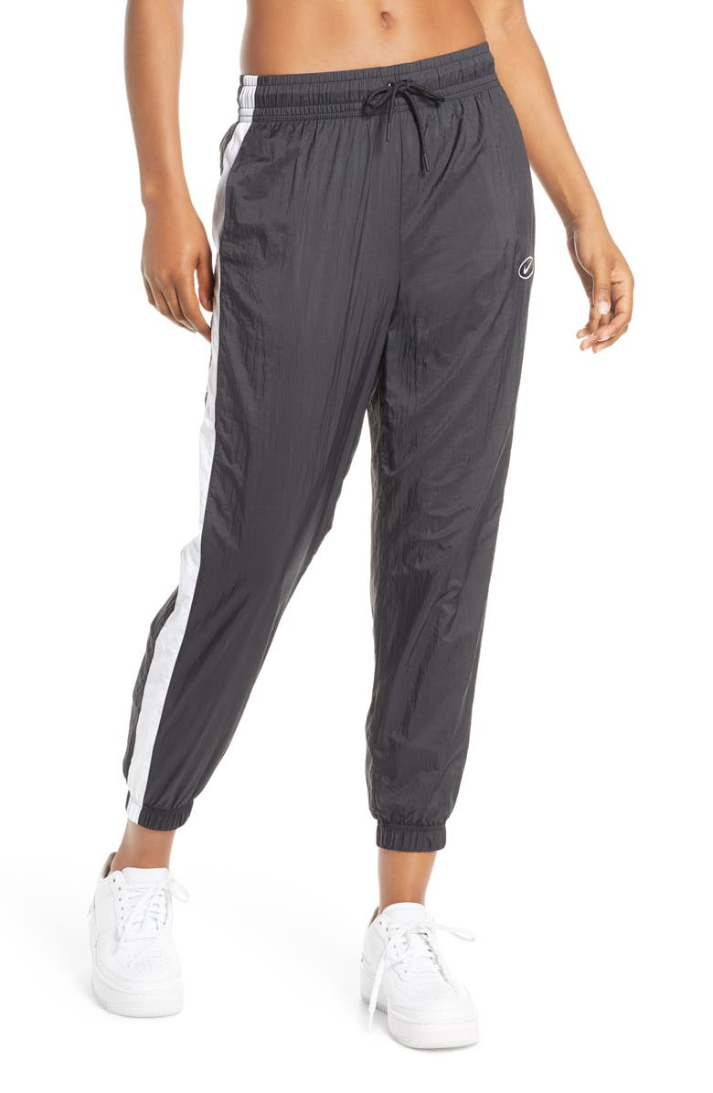 NIKE Sportswear Women's Swoosh Woven Pants, Main, color, BLACK