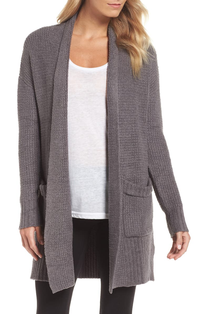 BAREFOOT DREAMS<SUP>®</SUP> CozyChic<sup>®</sup> Lite Long Weekend Cardigan, Main, color, ASH
