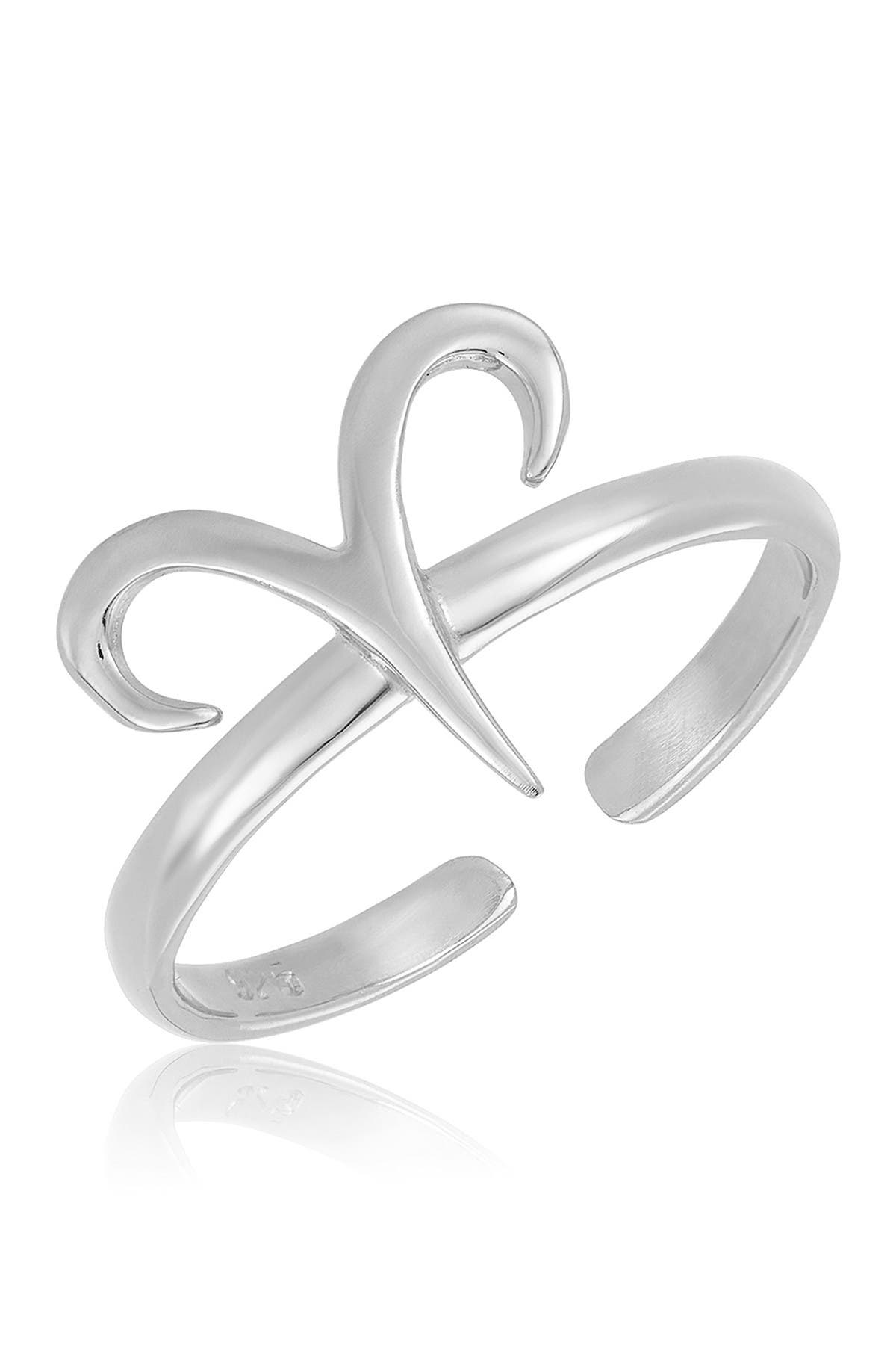 Image of Sterling Forever Sterling Silver Adjustable Zodiac Ring - Aries