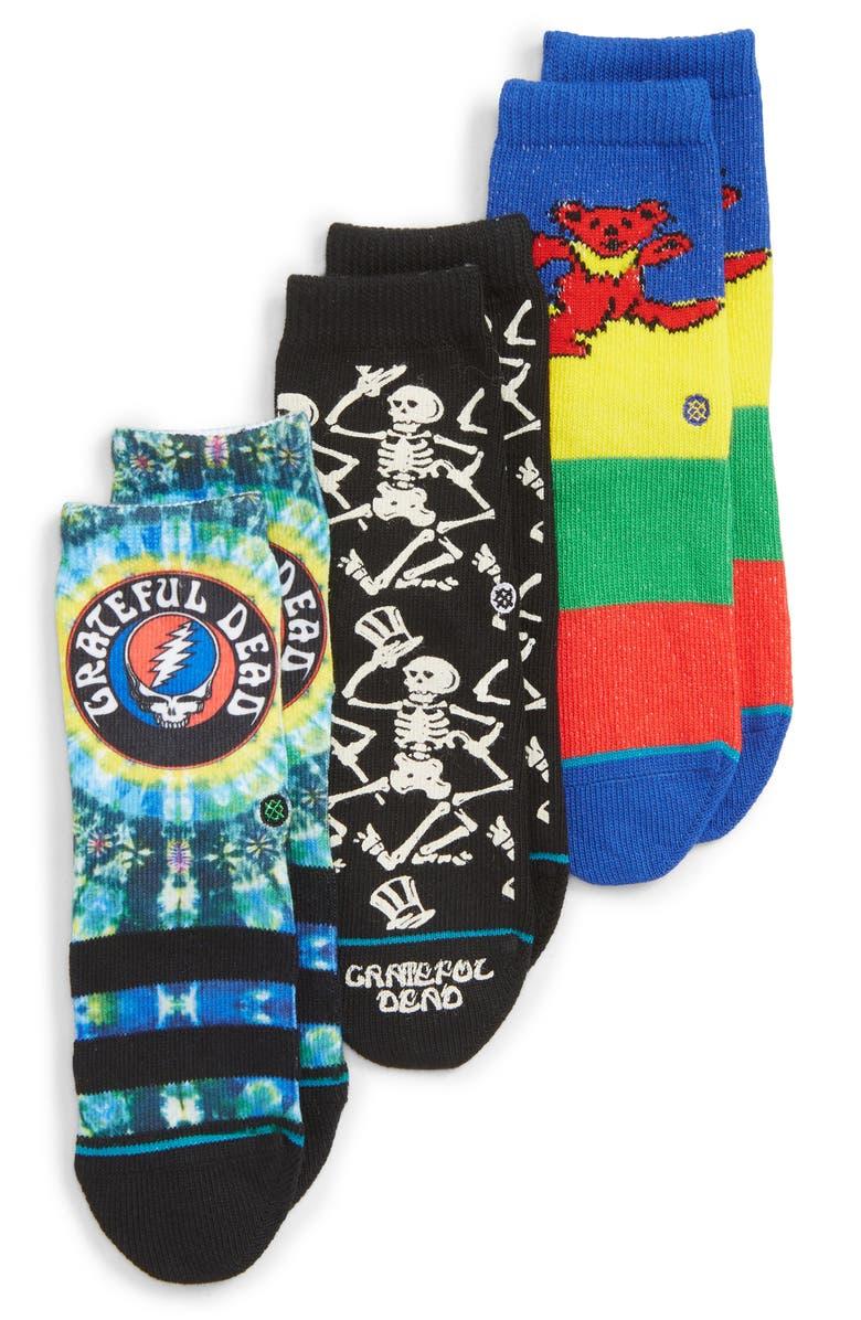 STANCE Grateful Dead 3-Pack Crew Socks, Main, color, 460