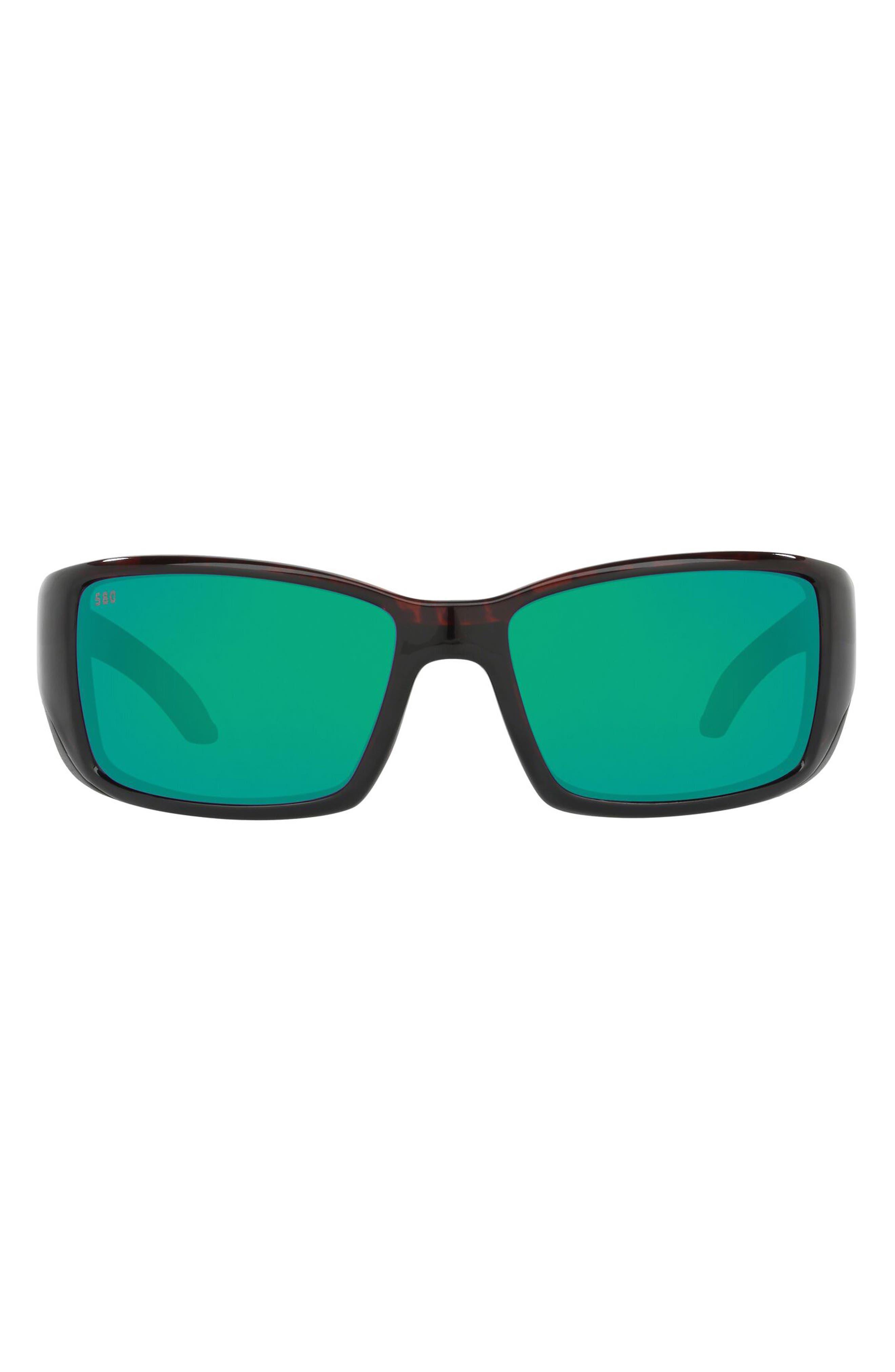 62mm Rectangular Polarized Sunglasses