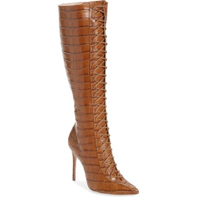 Schutz Meredith Knee High Boot, Brown