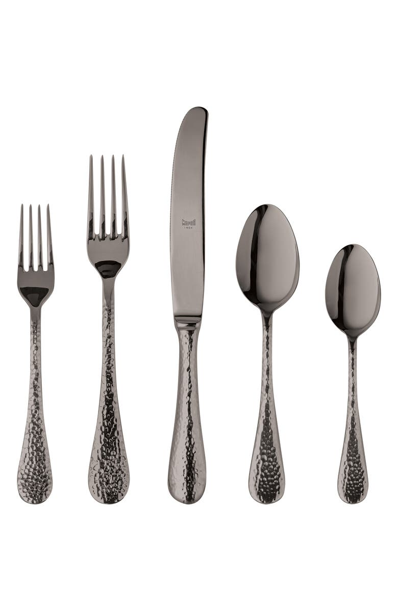 MEPRA Epoque Black 5-Piece Place Setting, Main, color, STAINLESS BLACK