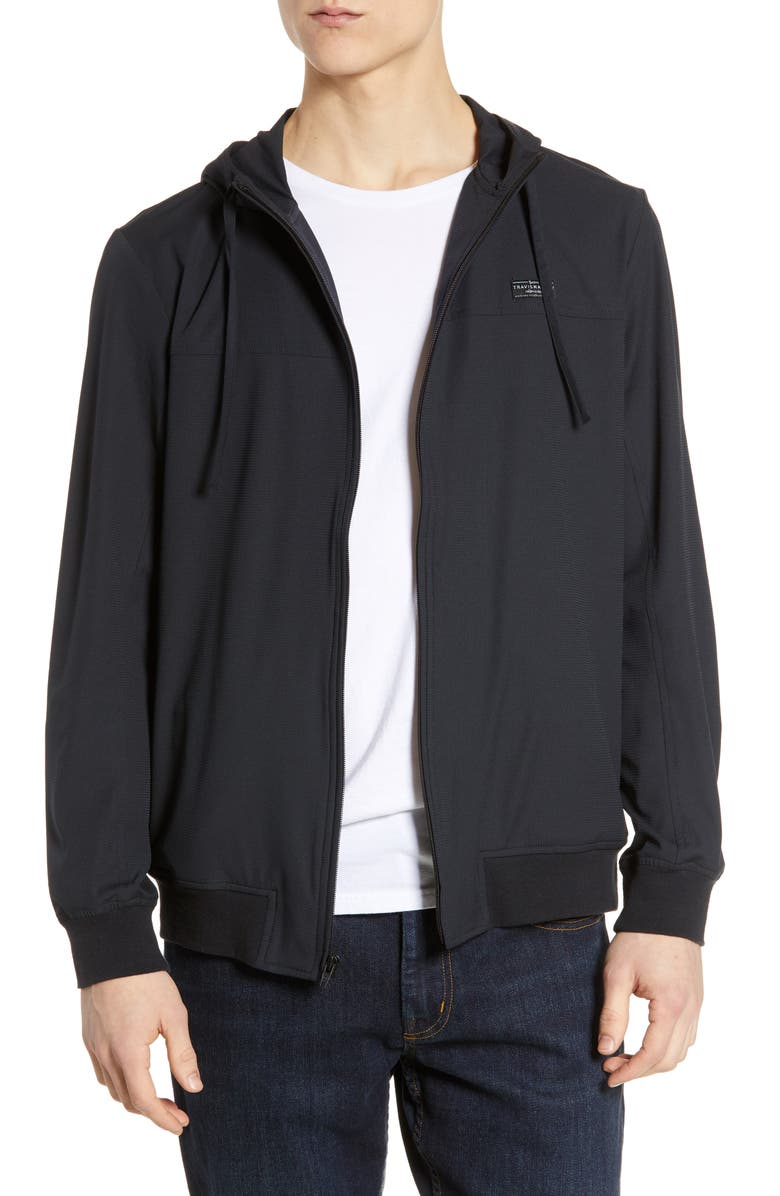 TRAVISMATHEW Wanderlust Regular Fit Hoodie, Main, color, BLACK