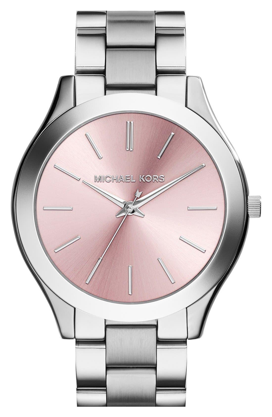 ,                             'Slim Runway' Bracelet Watch, 42mm,                             Main thumbnail 26, color,                             043