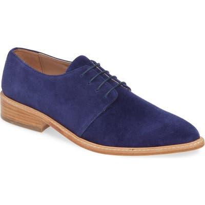 James Chan Gracie Plain Toe Derby, Blue