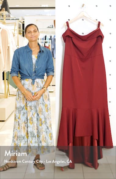 Curve Roz Off the Shoulder High/Low Gown, sales video thumbnail