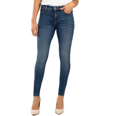 Kut From The Kloth Mia Fab Ab High Waist Distressed Skinny Jeans, Blue