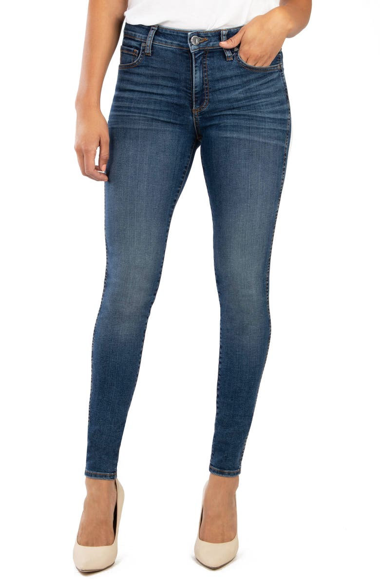 KUT FROM THE KLOTH Mia Fab Ab High Waist Distressed Skinny Jeans, Main, color, 409