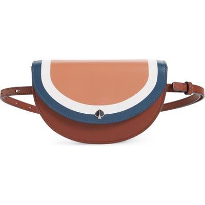 Kate Spade New York Andi Stripe Small Half-Moon Belt Bag - Brown