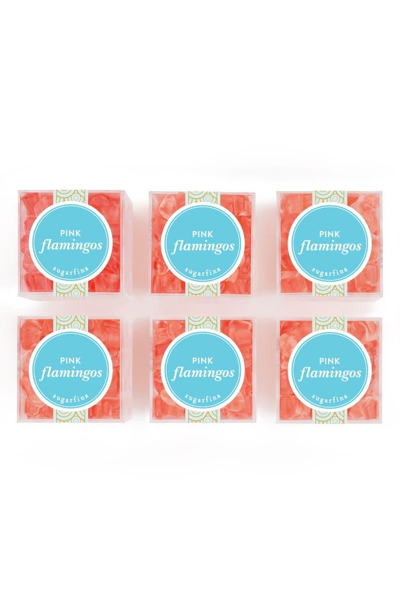 SUGARFINA Set of 6 Pink Flamingos Candy Cubes, Main, color, 650