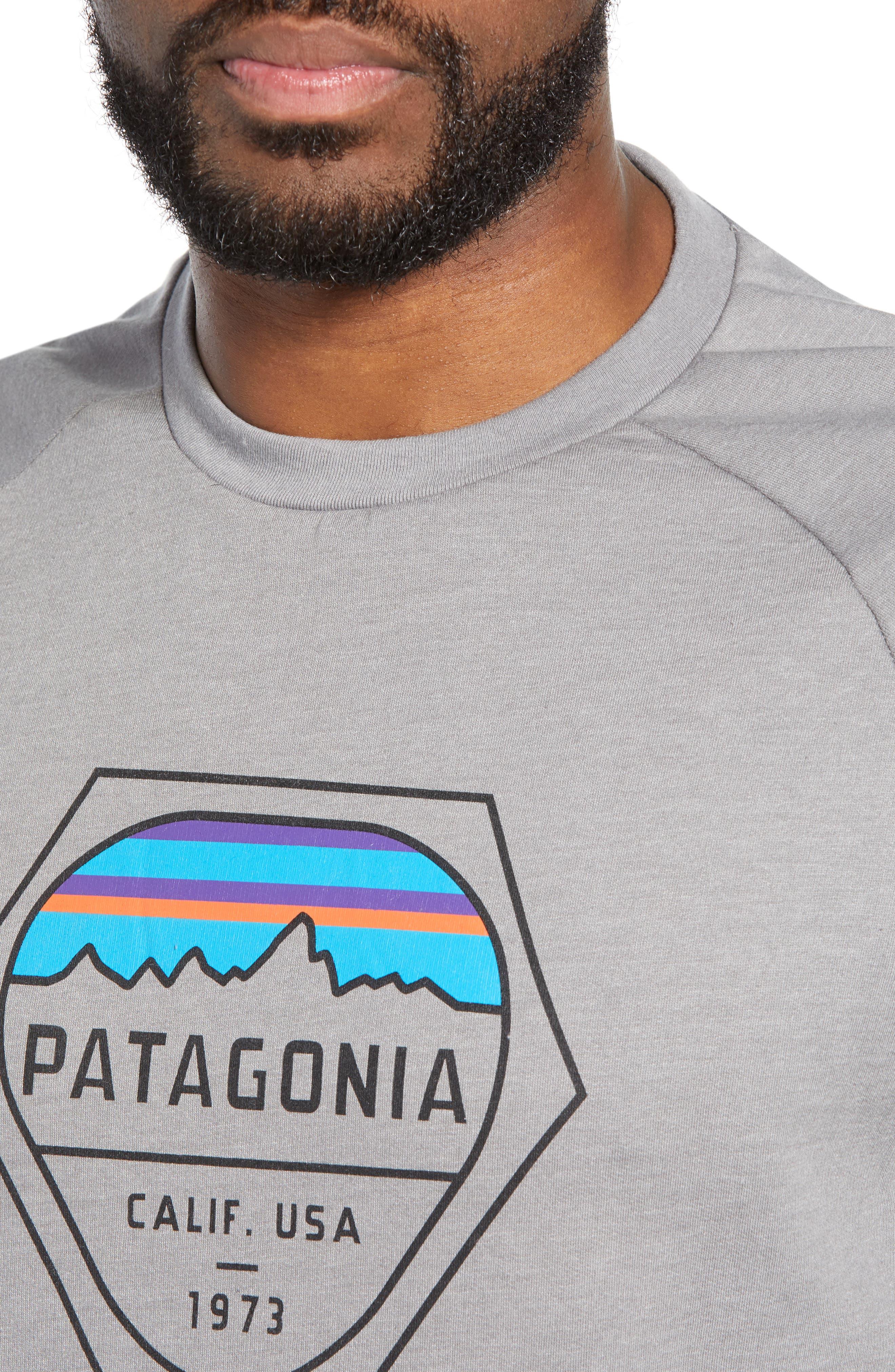 ,                             Fitz Roy Hex Logo Sweatshirt,                             Alternate thumbnail 4, color,                             FEATHER GREY