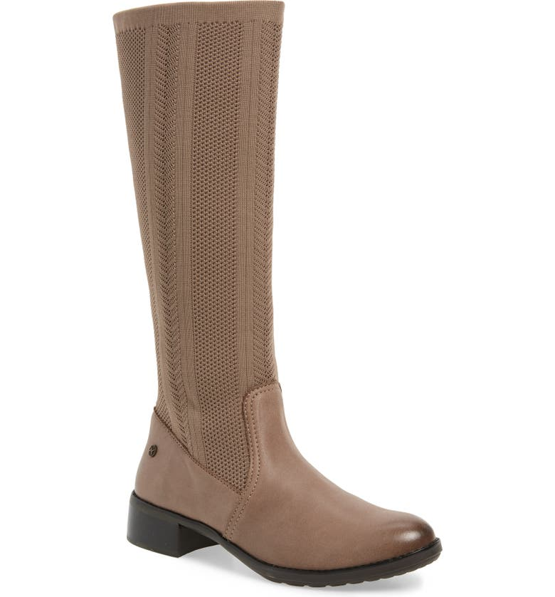 AETREX Belle Sock Knit Shaft Boot, Main, color, TAN LEATHER
