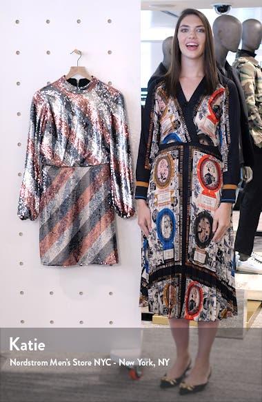 Jocasta Stripe Sequin Minidress, sales video thumbnail