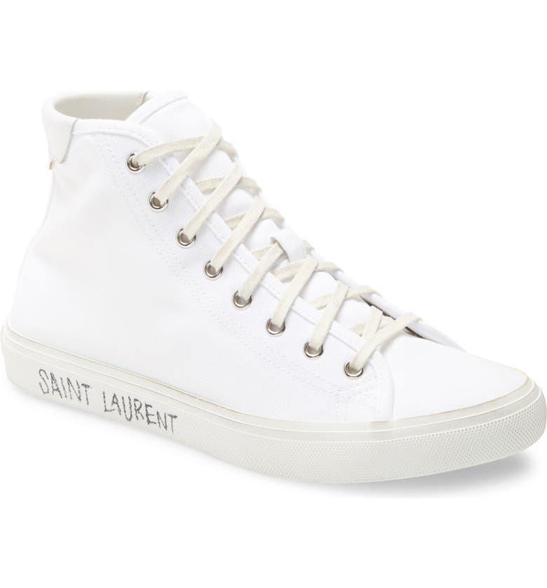 SAINT LAURENT Malibu Sneaker, Main, color, WHITE