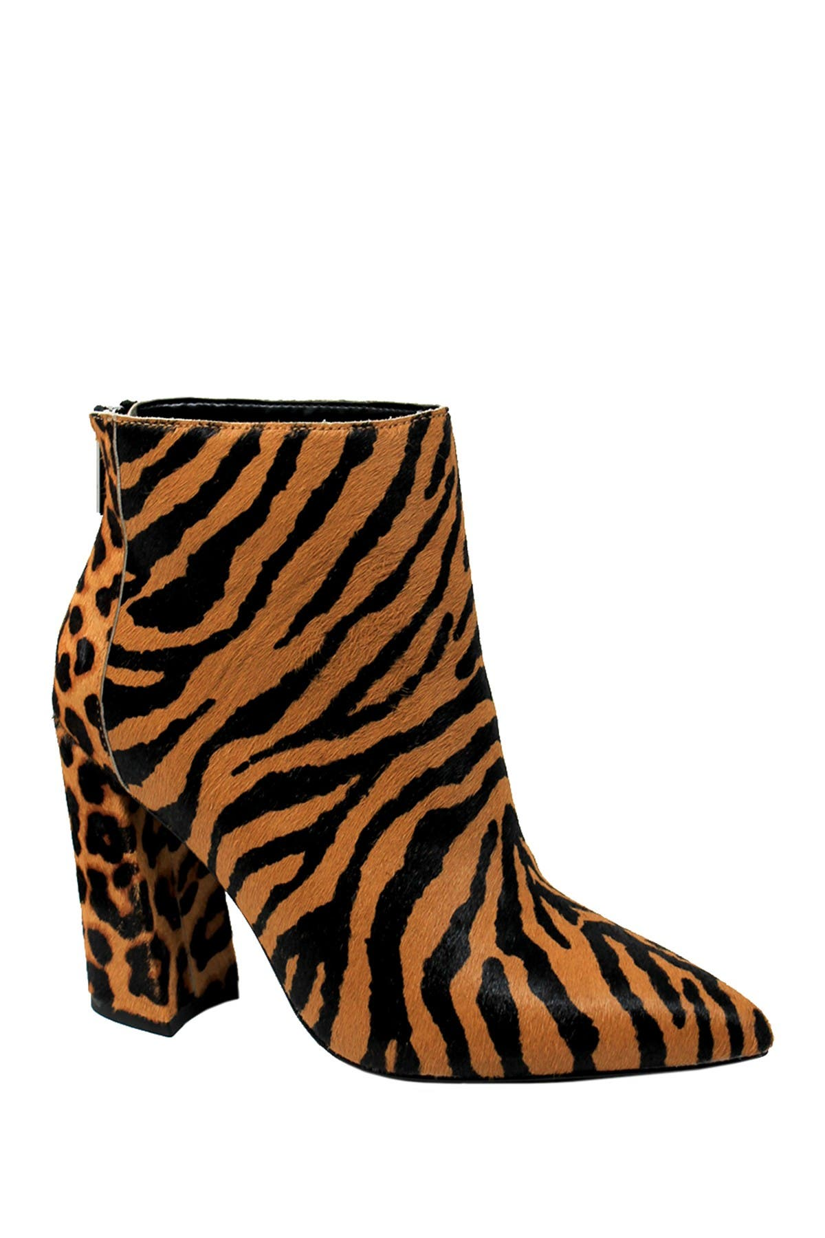 Micro Pointed Toe Leopard Tiger Block