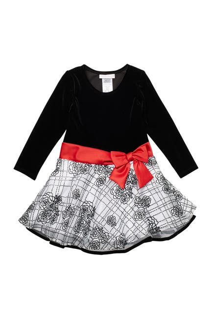 Image of GERSON & GERSON Flocked Dress