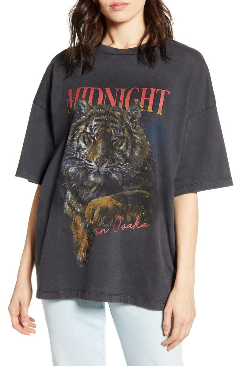 URBAN NATION Midnight Oversized Tee, Main, color, 001
